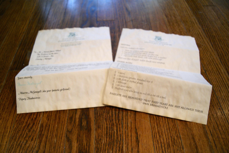 Harry Potter Hogwarts Acceptance Letter   Diaries